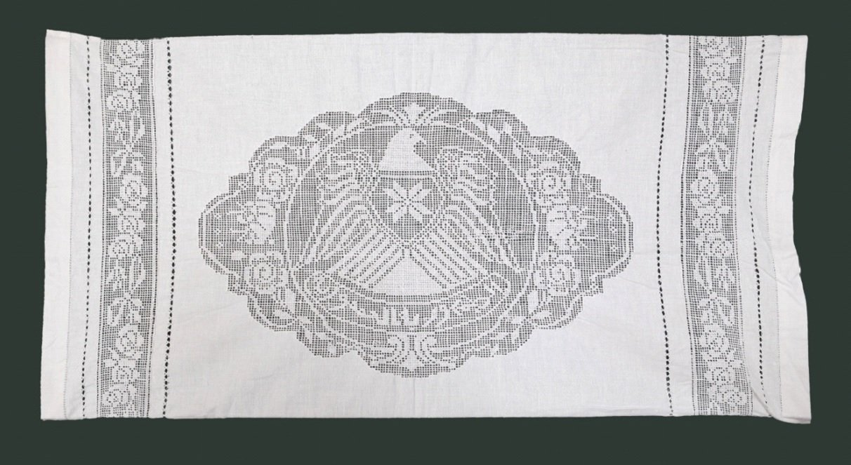 Pillowcase with the Syrian Eagle and the eight-edged star