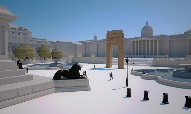 Model of Temple Bel Arch in Trafalgar Square. Source: Institute for Digital Archaeology