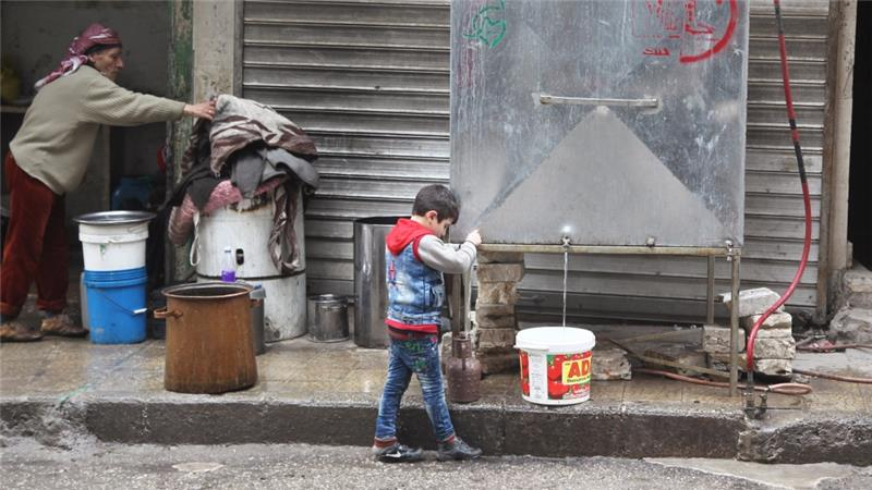 Today, large swaths of Aleppo governorate remain without adequate electricity, water and sanitation [Reuters]