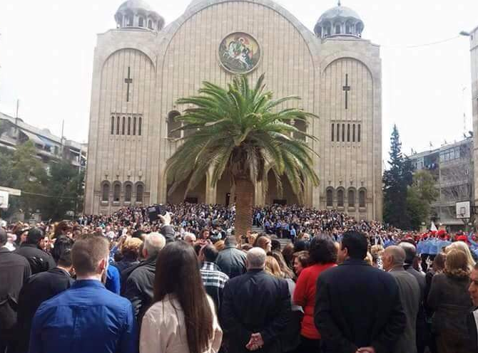 Palm Sunday 2016. St. Georges Melkite Greek Catholic Cathedral. Photo: Edward Dark.