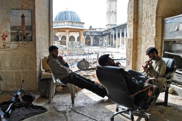 World Heritage Site Umayyad mosque, Old City of Aleppo. November 2013. Photo: Ali Mustafa/ SIPA Press