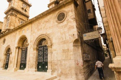 The Armenian Martyrs' Cathedral Church in Aleppo. Photo: Amany.