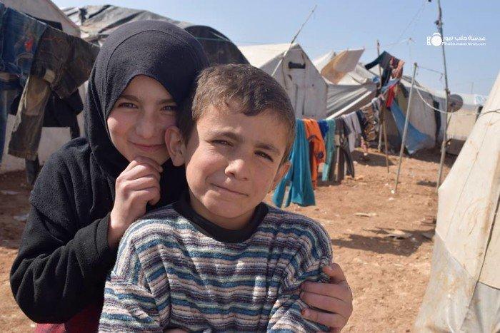 Children in IDP camp near Azaz. Halab News Network. Aleppo Project.