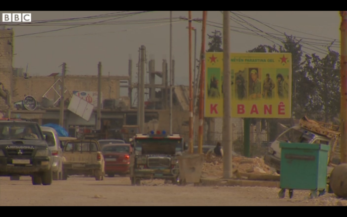 Aleppo province-Kurdish forces fighting Islamic State. BBC/TheAleppoProject