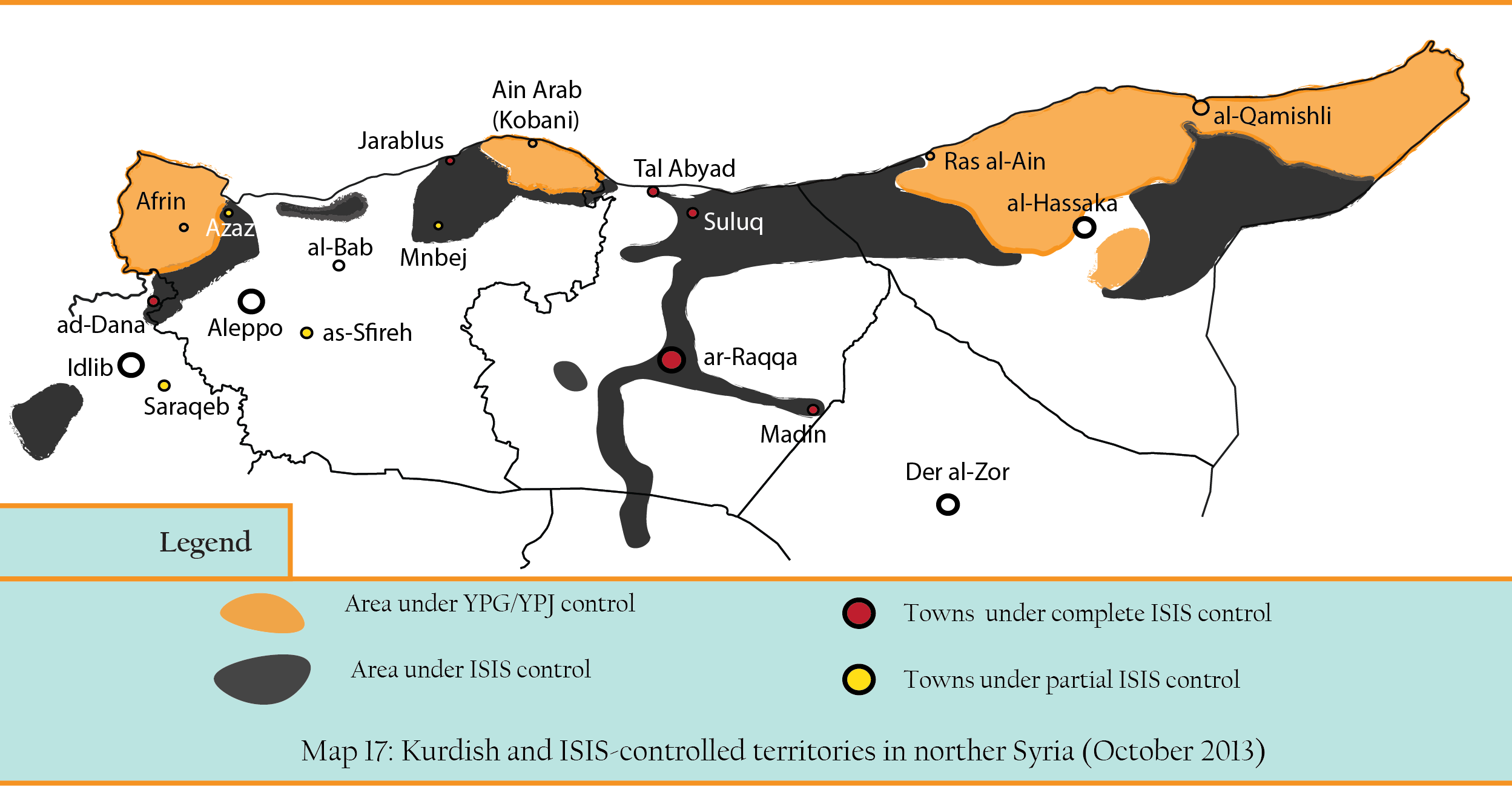 ISIS + kurdish control in the north
