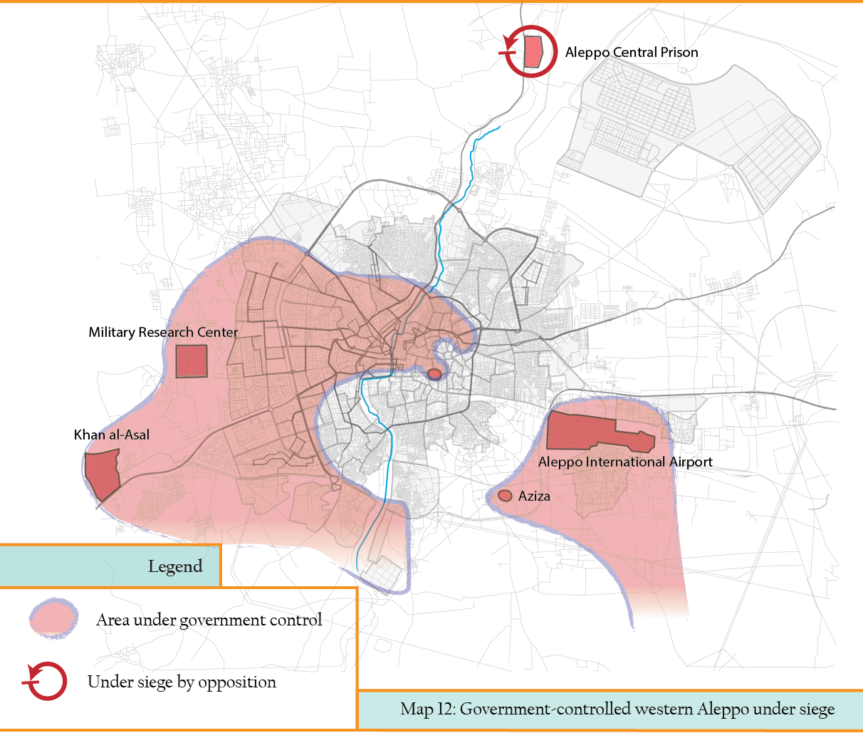 MAP 12 Regime under full blockade