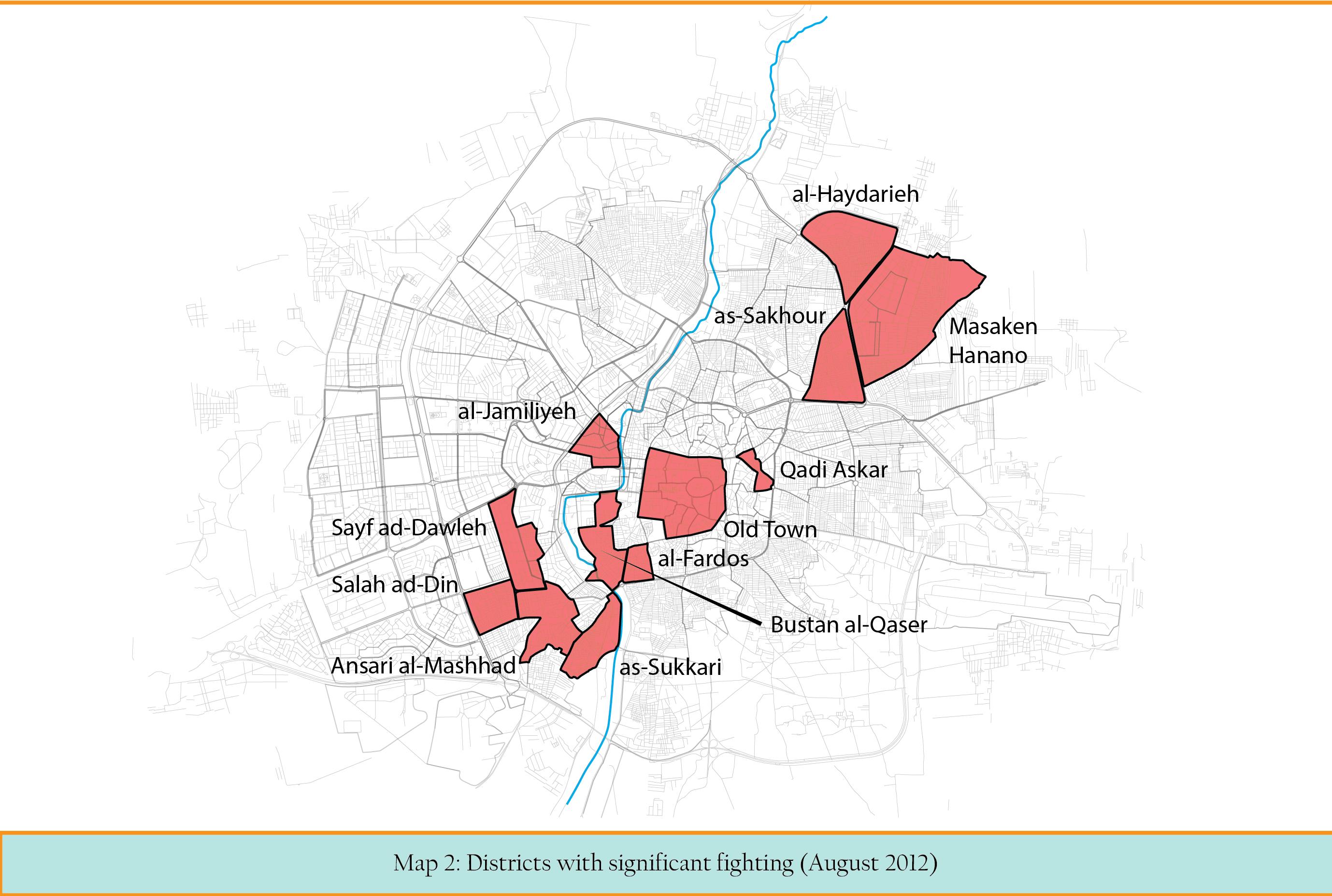 MAP 2 Main clashes in Aleppo