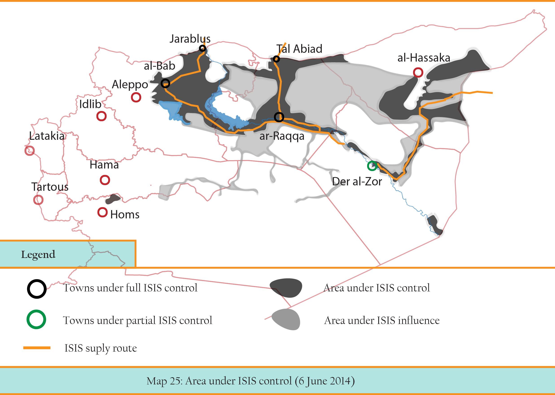 MAP 25 ISIS territories -- 5 june