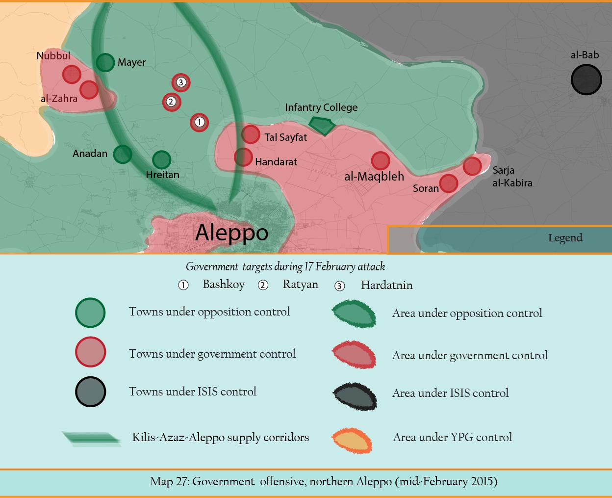 MAP 27 Govet offensive north aleppo Feb 2015