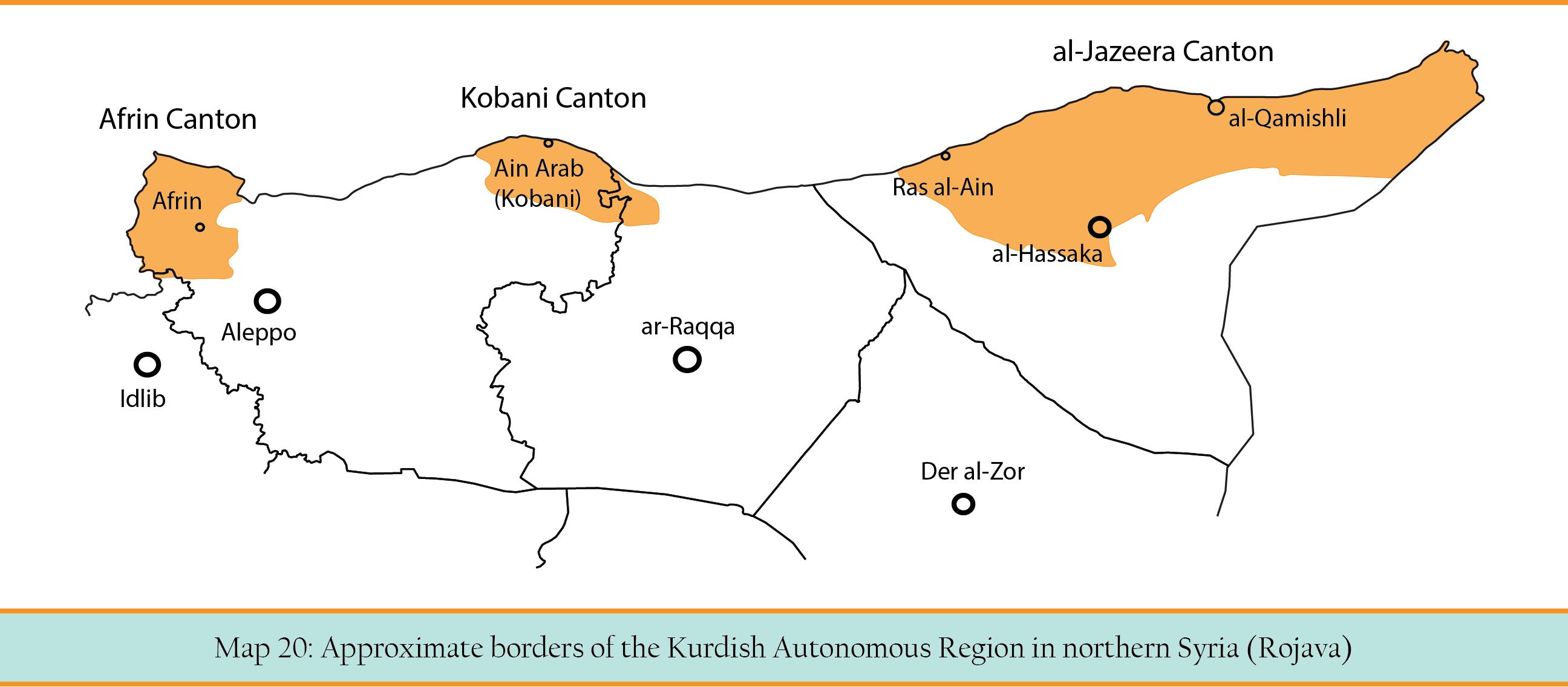 Map 20 Kurdish autonomeous region