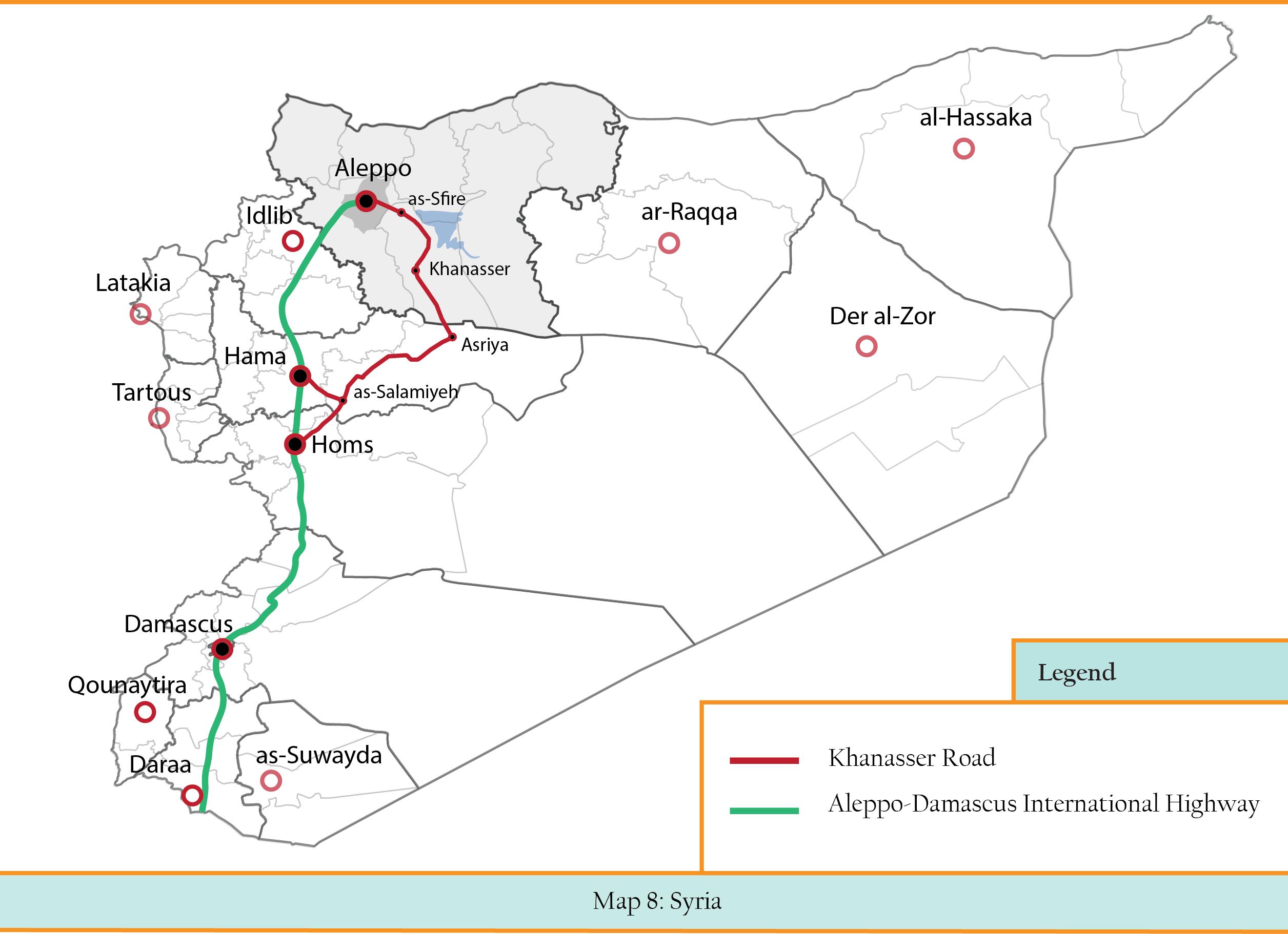 Map 8 -- Khanaser road (Map C)