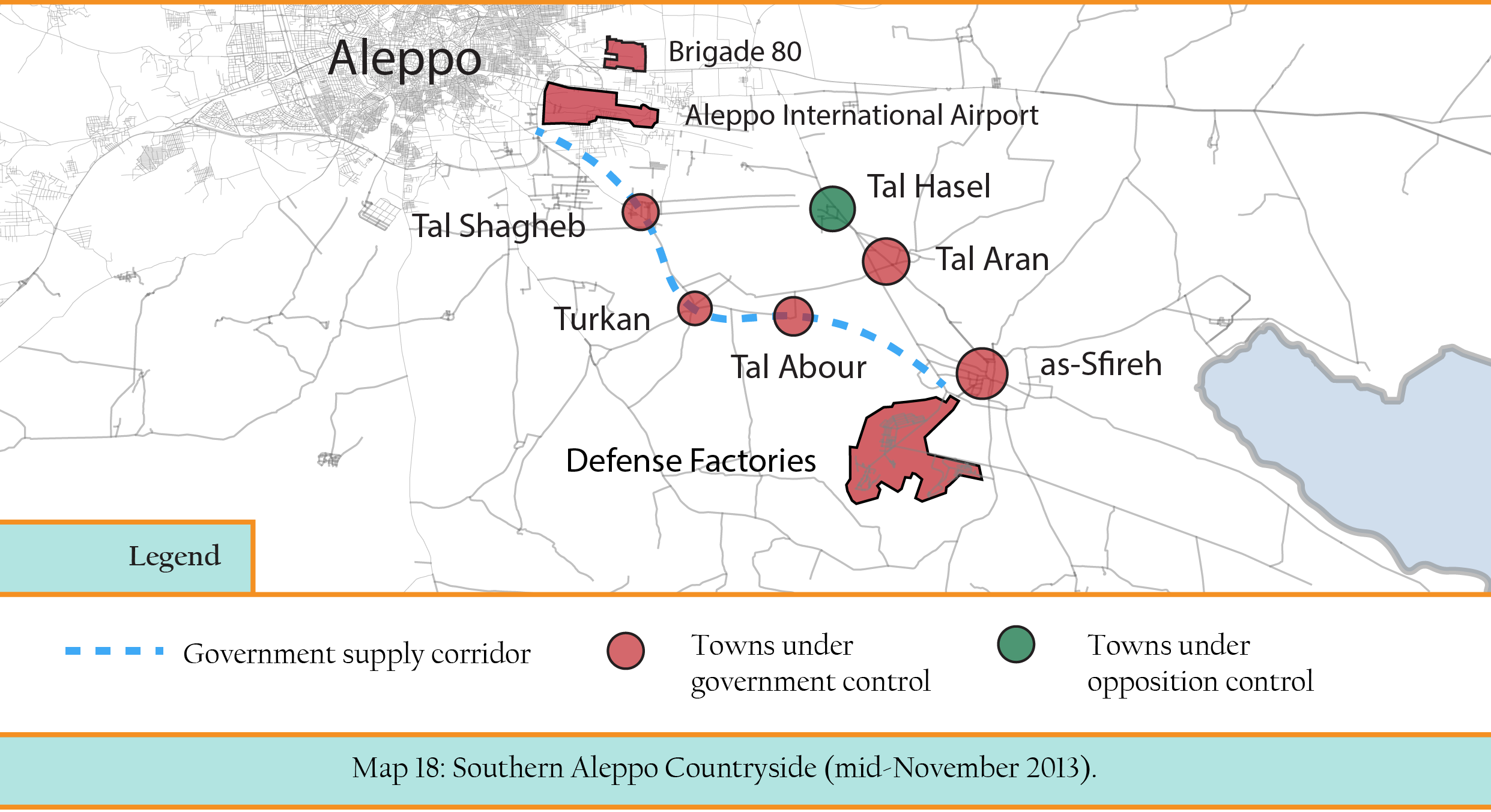 South Aleppo + supply corridor (Map A)