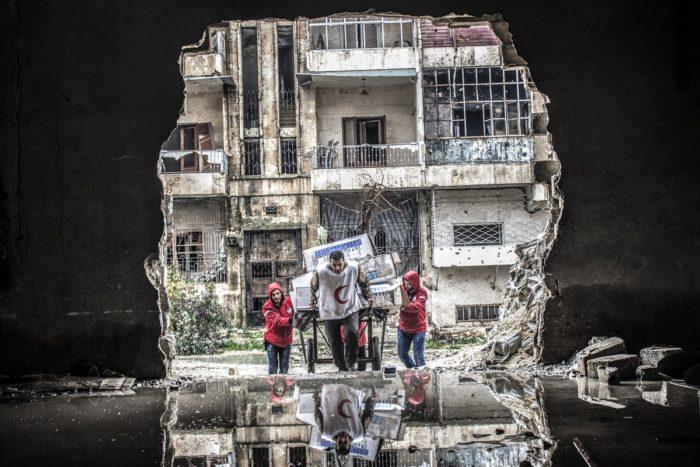 """Heavenly Space of Humanity."" Photo: Islam Mardini."