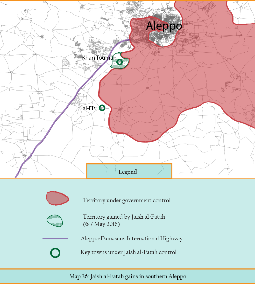 Map 36 - Jaish al-Fatah gains in southern Aleppo