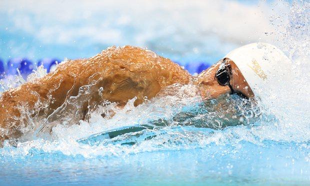 Olympic Swimmer Rami Anis set a personal best in the 100m freestyle. Photo: EPA/Esteban Biba.