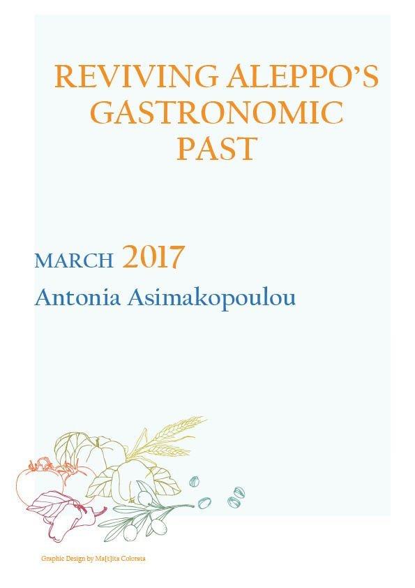 REVIVING ALEPPO'S GASTRONOMIC PAST